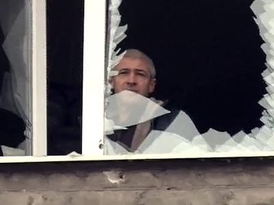 Яценюк уверяет, что в обстреле остановки в Донецке виновата Россия