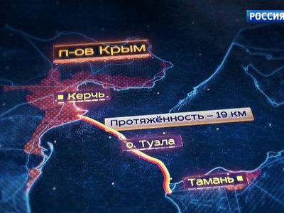 Длина моста через Керченский пролив составит 19 километров