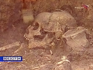 Кости неандертальца.