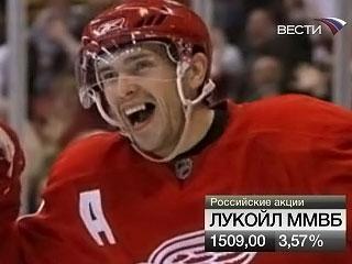 Павел Дацюк, играющий за Detroit Red Wings