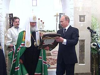 В дар новому храму в деревне Усово Путин преподнес икону