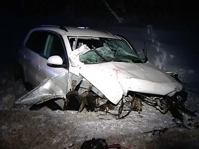 В Подмосковье джип столкнулся с грузовиком: четверо погибших