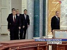 Лидеры ЦАС поздравили Путина в Стрельне