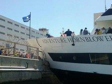 В США яхта с сотней пассажиров на борту протаранила пристань. Фото