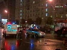 Крупнейшая авария с участием шести машин произошла ночью на Кутузовском проспекте в Москве