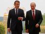 В версальском замке Большой Трианон началась встреча Путина и Макрона