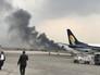 В Катманду самолет упал на футбольное поле